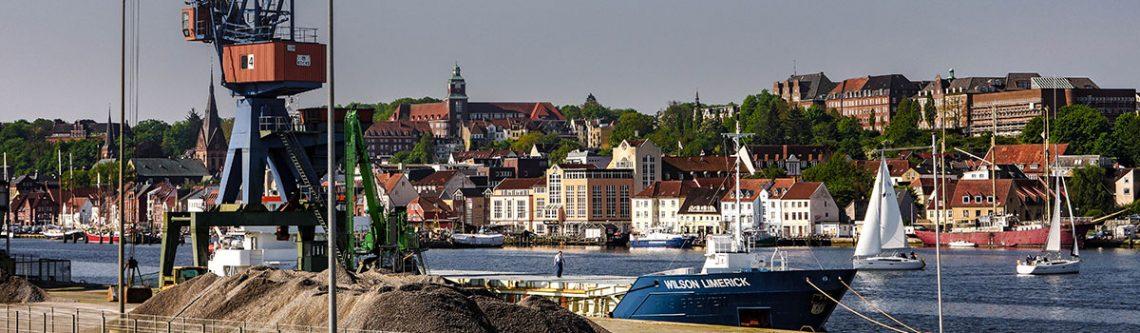 Blick auf Flensburg, Industriehafen